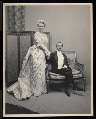 Portrait of an unidentified man and woman at the James Hazen Hyde Ball, New York, January 31, 1905 Poster Art Print by Byron Company