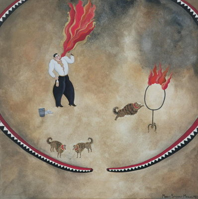 Fine Art Print of Fire Eater, 1980 by Mary Stuart