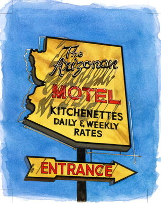 The Arizonian, Miracle Mile, 2004 Poster Art Print by Lucy Masterman