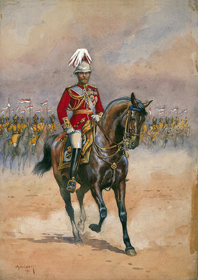 Fine Art Print of His Majesty the King Emperor, 1910, illustration for 'Armies of India' by Major G.F. MacMunn, pub. 1911 by Alfred Crowdy Lovett