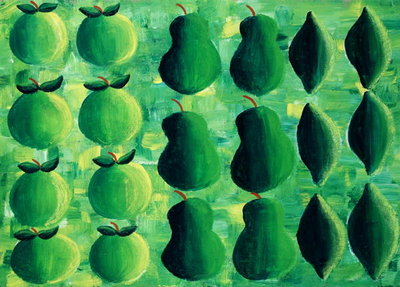 Fine Art Print of Apples, Pears and Limes, 2004 by Julie Nicholls