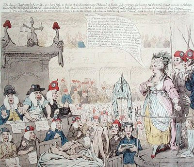 Fine Art Print of The heroic Charlotte la Corde by James Gillray
