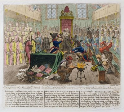 Consequences of a Successful French Invasion, or We come to recover your long lost Liberties, 1798 Poster Art Print by James Gillray