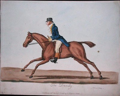 Fine Art Print of The Dandy, published by Hannah Humphrey in 1810 by James Gillray