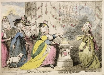 La Belle Assemblee, published by Hannah Humphrey in 1787 Poster Art Print by James Gillray