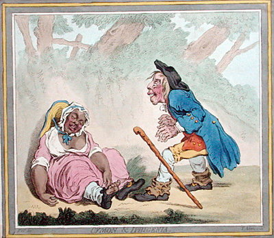 Cymon & Iphigenia, published by Hannah Humphrey in 1796 Poster Art Print by James Gillray