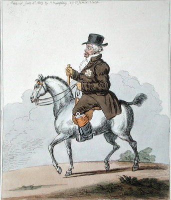 A Scotch Poney, commonly call'd a Galloway, published by Hannah Humphrey in 1803 Poster Art Print by James Gillray