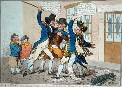 Fine Art Print of The Caneing in Conduit Street, published by Hannah Humphrey in 1796 by James Gillray