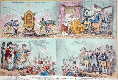 Fine Art Print of Patriotic Petitions on the Convention, published by Hannah Humphrey by James Gillray
