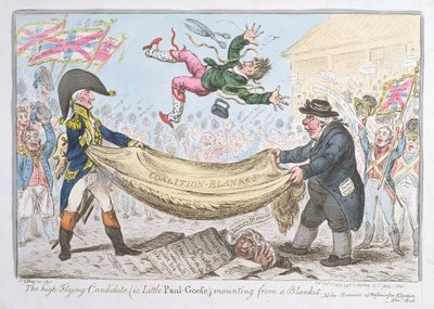 Fine Art Print of The high flying Candidate by James Gillray