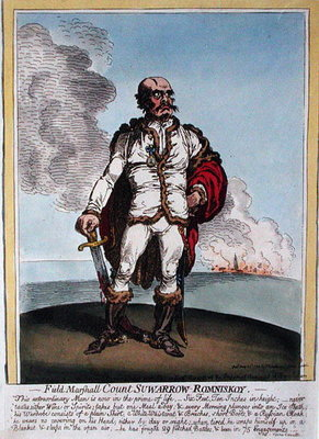 Fine Art Print of Field-Marshall Count Suwarrow-Rominiskoy by James Gillray