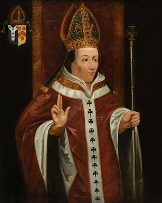 Henry Chichele, Archbishop of Canterbury Poster Art Print by English School