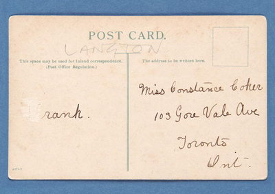 Fine Art Print of Reverse side of 'Well Placed' postcard by English School