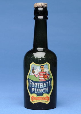 Bottle of Football Punch Poster Art Print by English School