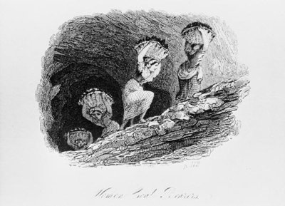 Fine Art Print of Woman Coal Bearers, East Lothian Coal Mine by English School