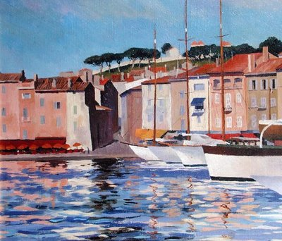 St.Tropez, Var (oil on canvas) by Mary Nancy Skempton - print
