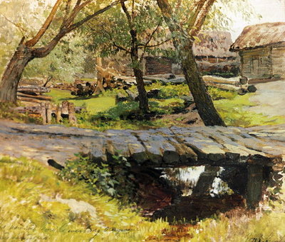 Fine Art Print of A Bridge in Savvinskaya Sloboda by Isaak Ilyich Levitan