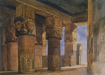 Temple of Denderah, Upper Egypt Poster Art Print by William James Muller