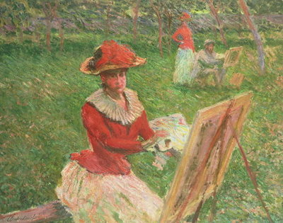 Fine Art Print of Blanche Hoschede by Claude Monet