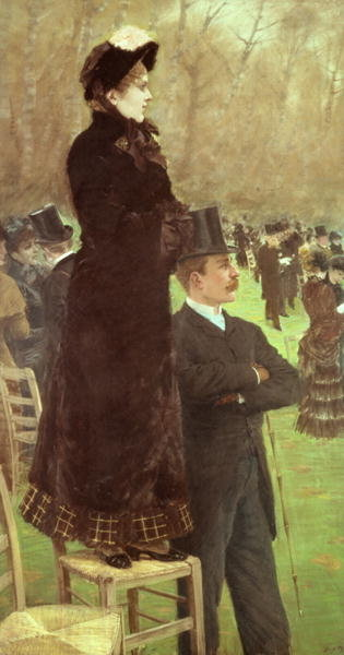 The Races at Auteuil, Paris Poster Art Print by Giuseppe or Joseph de Nittis