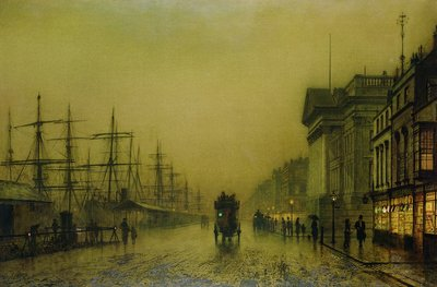 Fine Art Print of Liverpool Docks Customs House and Salthouse Docks, Liverpool by John Atkinson Grimshaw