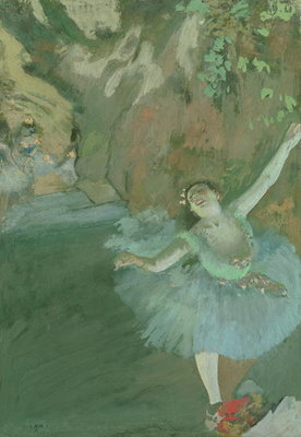 Fine Art Print of The Bow of the Star, c.1880 by Edgar Degas