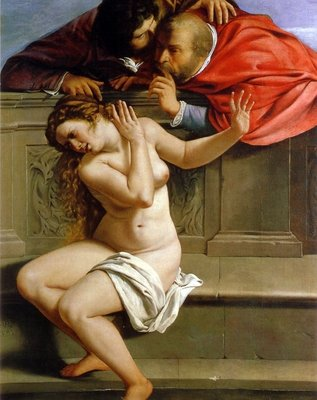 Susannah and the Elders, c.1610 Poster Art Print by Artemisia Gentileschi