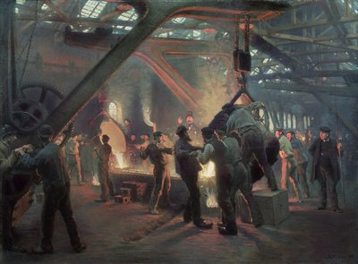 Biermeister and Wain Steel Forge, 1885 Poster Art Print by Peder Severin Kroyer