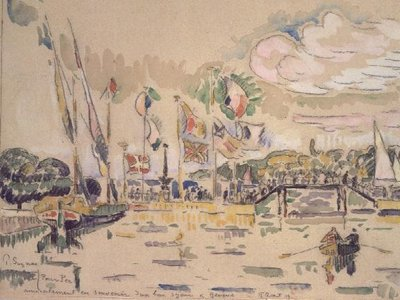 Geneva, c.1919 Poster Art Print by Paul Signac