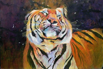 Fine Art Print of Tiger by Odile Kidd