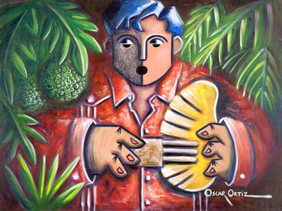 Trova de la Pana (oil on canvas) by Oscar Ortiz - print