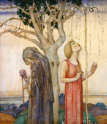 Fine Art Print of Youth and Age, 1923 by Edward Reginald Frampton