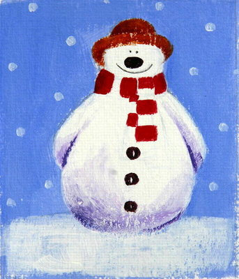 Snowman, 2001 Poster Art Print by Alex Smith-Burnett