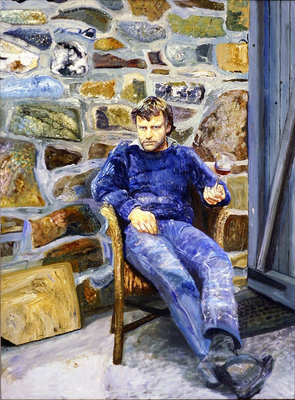 Fine Art Print of Portrait of Peter Reading, 1989 by Peter Edwards
