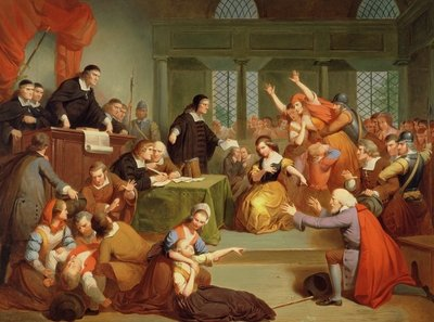 The Trial of George Jacobs, 5th August 1692, 1855 Poster Art Print by Tompkins Harrison Matteson