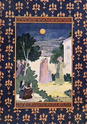 Fine Art Print of Moon of Beauty, illustration for 'The Arabian Nights', 1895 by French School