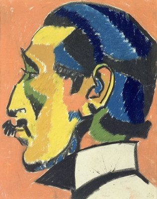 Fine Art Print of Portrait of Horace Brodsky by Henri Gaudier-Brzeska