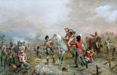 Fine Art Print of The Field at Waterloo by Robert Alexander Hillingford