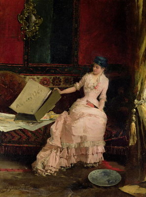 The Elegant Connoisseur, 1883 Poster Art Print by Gabriel Nicolet