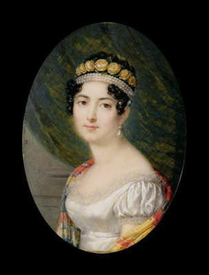 Fine Art Print of Portrait Miniature of the Empress Josephine by Andre Leon Larue