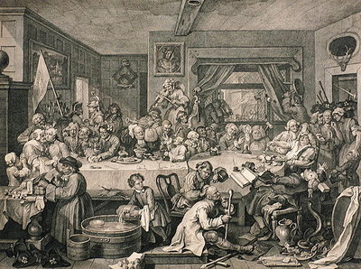 Fine Art Print of An Election Entertainment, from 'The Works of William Hogarth', published 1833 by William Hogarth
