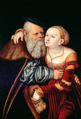 The Old Lover Poster Art Print by Lucas, the Elder Cranach