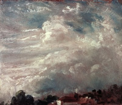 Cloud study, horizon of trees Poster Art Print by John Constable