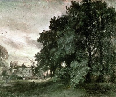 Fine Art Print of Study of Trees by John Constable