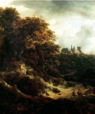 Castle at Bentheim, 1651 Poster Art Print by Jacob Isaaksz. or Isaacksz. van Ruisdael