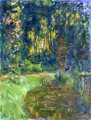 Garden of Giverny, 1923 Poster Art Print by Claude Monet