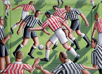 Local Derby, 2000 Poster Art Print by P.J. Crook