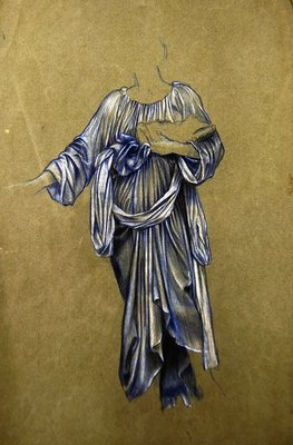 Fine Art Print of Study for the Third Standing Winged Angel by Evelyn De Morgan