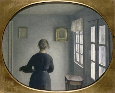 Fine Art Print of Interior, 1910 by Vilhelm Hammershoi