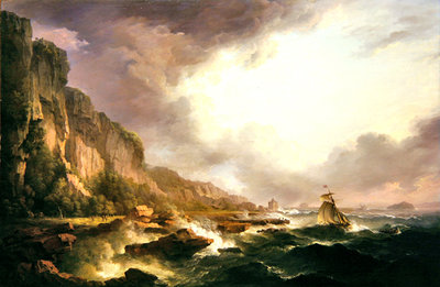 Fine Art Print of Portencross- At the Mouth of the Clyde by Alexander Nasmyth